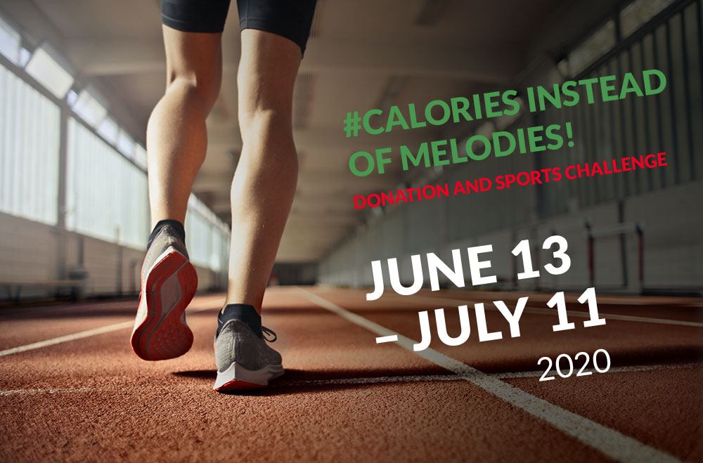 CALORIES INSTEAD OF MELODIES 2020 – Donation and sports challenge in favour of the IMLS